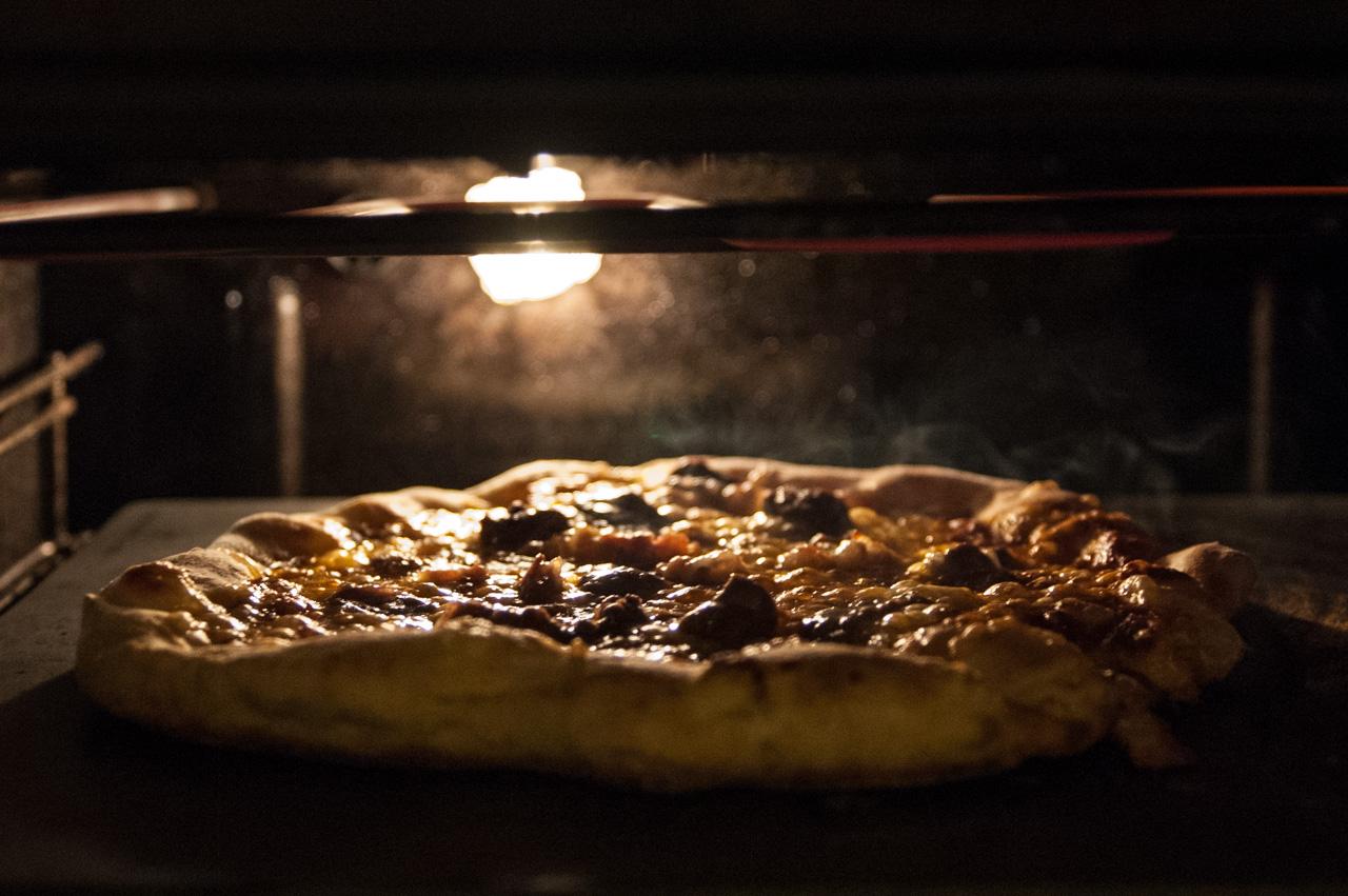 Pizza i ovnen!